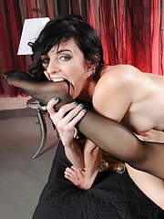 Naughty Mandy having filthy fun with Ashley Fires