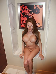 Big titted cutie Mia Isabella posing her sweet ass & cock