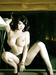 Big titted Sarina Valentina posing by the window