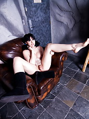 Stunning Bailey Jay posing as a naughty cave girl