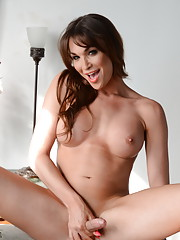 Horny Jonelle takes a dildo with her ass