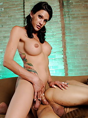 Seductive Morgan Bailey drilling peeping Tom