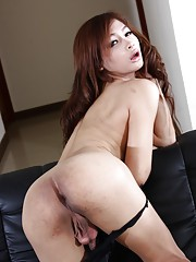 Exotical Mild shows her sweet ass and cock