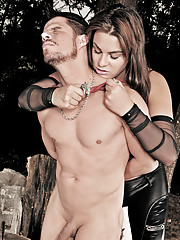 Wild and kinky shemale controls her submissive