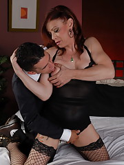 Horny Jasmine blowing and riding a huge fat cock