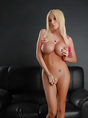 Lovely Kimber posing her big boobs & cock