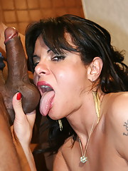 Sexy Gabriela taking a big black cock