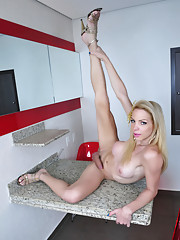 Hot Laviny posing her huge rock hard cock