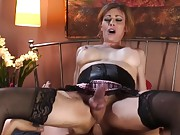 Hot mature shemale gets roughly fucked