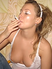 Hot blondie stripping and they fucking love it.