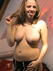 Nice big tits out in the open