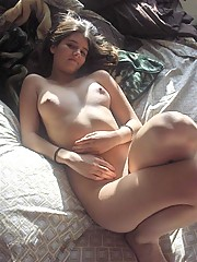 Sexy girl strips down and caught on camera.