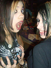 Pictures of a group of emo bitches