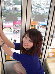 Pictures of a Japanese GF naked in a cable car