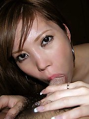 A hot Asian chick gets fucked in her hairy twat