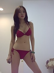 Group of sexy and sultry Asian hotties