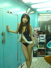 Young and naughty Japanese chick in different sexy poses