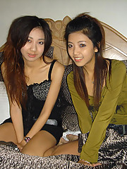 A collection of pairs of sexy Asian babes