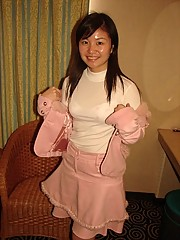 Cute and chubby Chinese girl posing for the camera