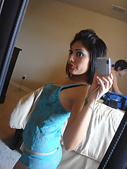 A hot Asian selfshooter shows off her hot bod