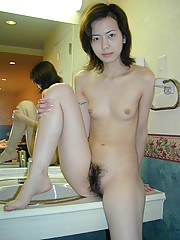 A collection of unshaved Asian poontang
