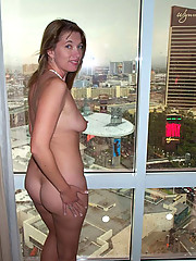 Picture set of a naked MILF on a cool vacation