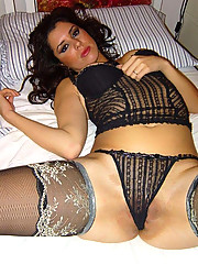 Pictures of a sultry wife in her kinky lingerie