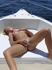 Pictures of a hot MILF who got wild on a yacht