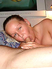 Pictures of a housewife sucking a cock and made it cum