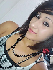 Teen Latina babe takes lots of selfshots including a naked one