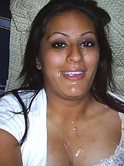 Collection of Latina cocksuckers with one of them getting a cum facial
