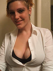 Picture collection of an amateur GF displaying her big tits