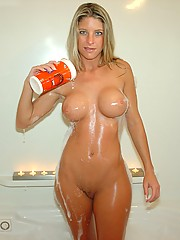 Blonde housewife with big boobs