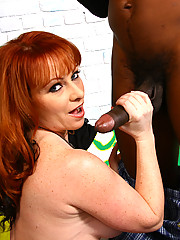 Porn legend Kylie Ireland fucks huge black dick
