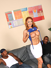 Janet Mason makes son watch interracial threesome
