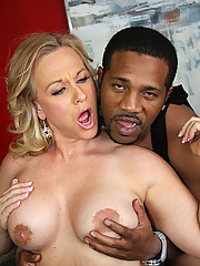 Son watches Cougar Mom suck fuck black interracial