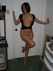 Dirty mom plays with her tits and loves it hard and rough.