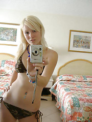 Picture compilation of a sexy camwhoring blonde chick