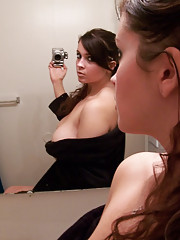Photos of a busty and sexy girl self-shooting