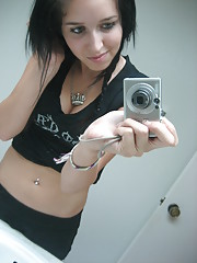 Photos of a dark-haired amateur chick
