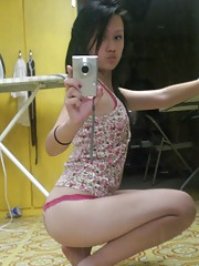 Asian teen with hot curvy body