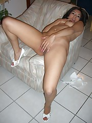 Pictures of horny girlfriends toying with their cunts