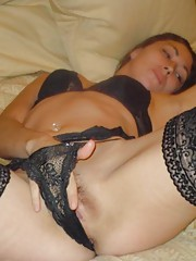 Group of various horny babes who love to play with themselves