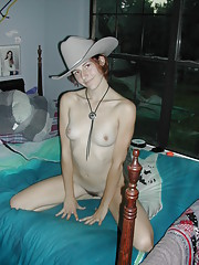 Cowgirl Abby masturbating and giving her BF a handjob