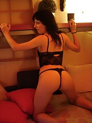 Brunette playing with pussy using a vagina sucking-toy