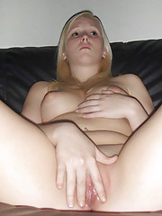 Pictures of a cocksucking GF who got her twat creampied
