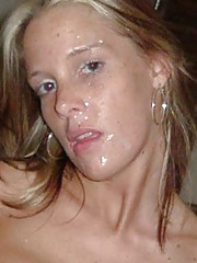 Pictures of messy cum facials