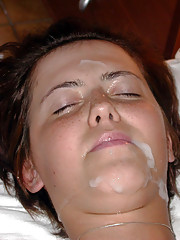 Hot photos of cum facials on various kinky girlfriends