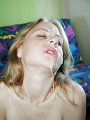 Naughty chicks who love cum on their faces and body