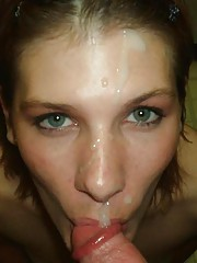 Collection of cum-squirted faces